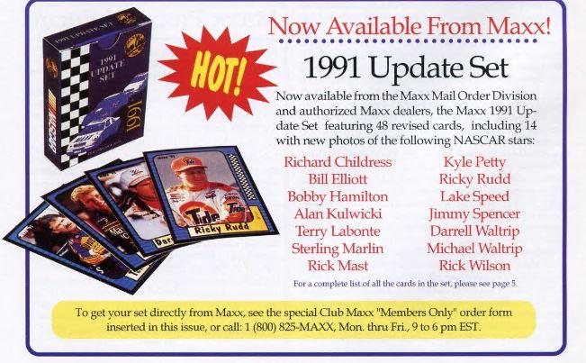 1991 Maxx Update Ad