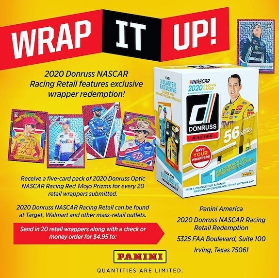 2020 Donruss NASCAR Racing Retail Redemption